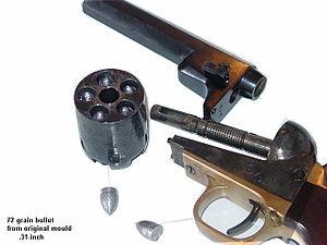 Colt 1851 Navy Revolver - Image: Pockettakedowa