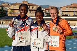 Podium 200 m women Rieti 2013.jpg