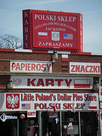 Milwaukee Avenue (Chicago) - Polish store along Pulaski Rd. in Jackowo