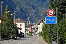Pollegio, entrance to village.jpg
