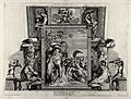Polyphemus and Galatea with Apollo and Hyacinthus above. Etc Wellcome V0036102.jpg