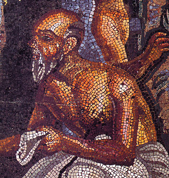 Simonides of Ceos - Detail of a mosaic in Pompeii (Casa del Poeta Tragico) showing a poet—another survivor!