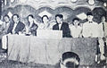 Poniman, Djamaluddin Malik, Dhalia, Fifi Young, AN Alcaff, Kusdiningsih, A Hadi, Awaluddin at first IFF Dunia Film 15 May 1955 p6.jpg