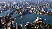 Most Australians live in urban areas. Sydney is the most populous city in the country.