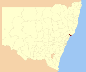 Port Stephens Council - Location in New South Wales