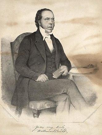 William Knibb - Portrait and signature of William Knibb, 1845