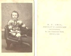Portrait of child by N F Ames of Emporia Kansas.png