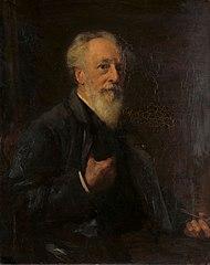 Portret van J.A.B. Stroebel (1821-1905), kunstschilder