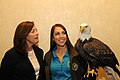 Posing for picture with Bald Eagle. (10595935684).jpg
