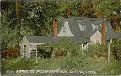 PostcardSheltonCTBirthplaceOfCommodoreHull1908