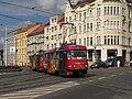 Praha, Libeň, křižovatka Sokolovská-Zenklova, Tatra T3SUCS č. 7192+7193.jpg