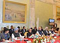 Pranab Mukherjee and the Prime Minister, Dr. Manmohan Singh at the Conference of Vice Chancellors of Central Universities, at Rashtrapati Bhawan, in New Delhi. The Union Minister for Human Resource Development.jpg