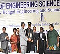 Pranab Mukherjee being felicitated at the inaugural ceremony of the Indian Institute of Engineering Science and Technology (IIEST), at Shibpur, Howrah, in West Bengal. The Director, IIEST, Shibpur, Prof. Ajoy Kumar Ray.jpg