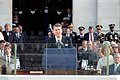President Ronald Reagan making his inaugural address from the United States Capitol.jpg