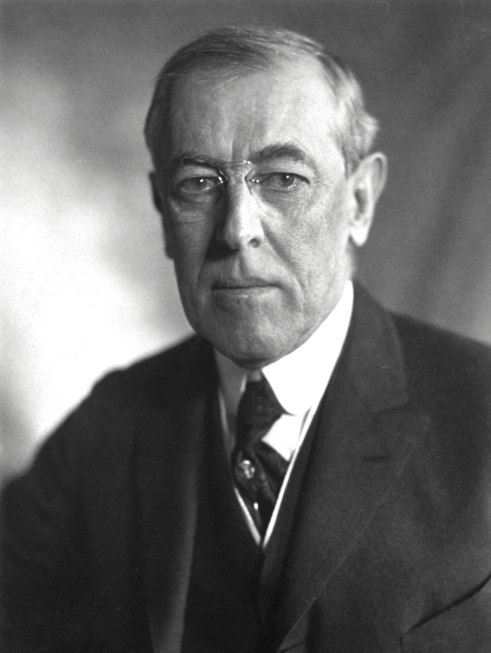 President Wilson 1919-bw