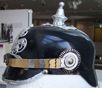 Pickelhaube - Prussian police leather Pickelhaube