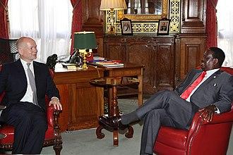 Raila Odinga - British Foreign Secretary William Hague meeting Raila Odinga, Prime Minister of Kenya in London, 10 August 2012