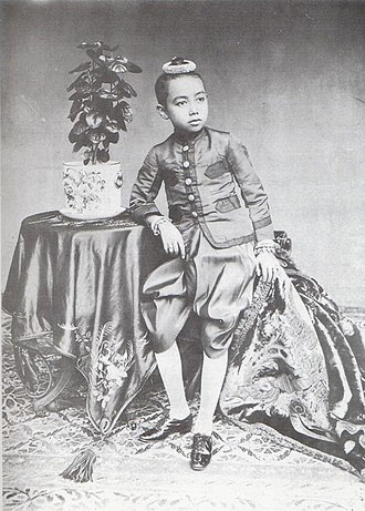 Vajiravudh - Young Prince Vajiravudh in the 1890s.