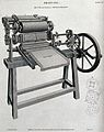 Printing; a three-quarter view of a press made by Bacon & Do Wellcome V0023775.jpg