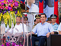 Prisdent Ma with Generals Sitting at Review Stand of New Taipei City Plaza 20140906.jpg