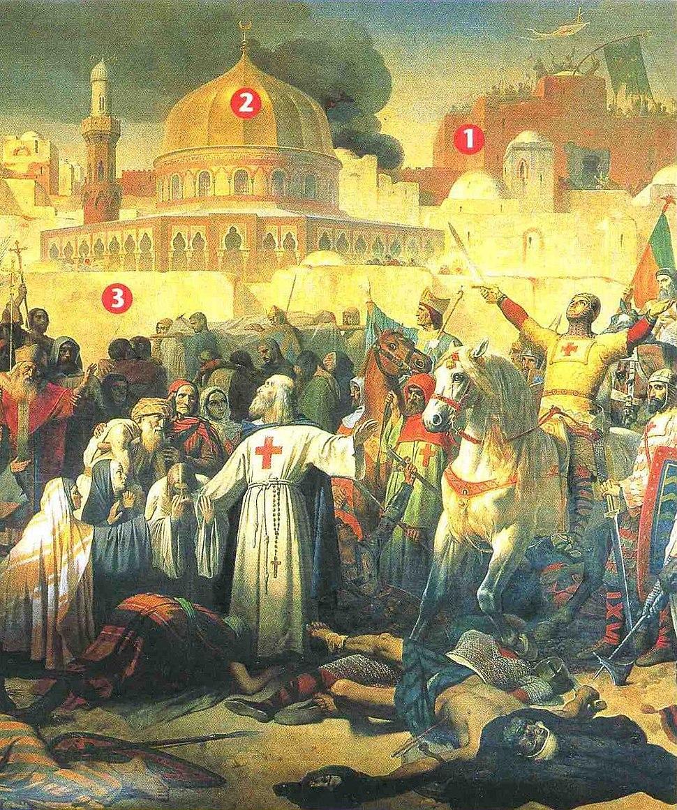 Prise de Jérusalem par les Croisés, le 15 juillet 1099 Emil Signol, Musée du Château Versailles