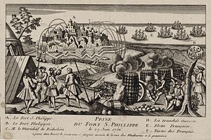 Siege of Fort St Philip (1756) - The siege of Fort St. Philip in Menorca.