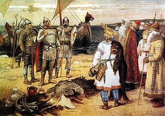 Rurik - Image: Prizvanievaryagov