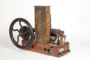 Enrico Bernardi - Prototype of combustion engine by Enrico Bernardi, exhibited at the Museo nazionale della scienza e della tecnologia Leonardo da Vinci, Milan.