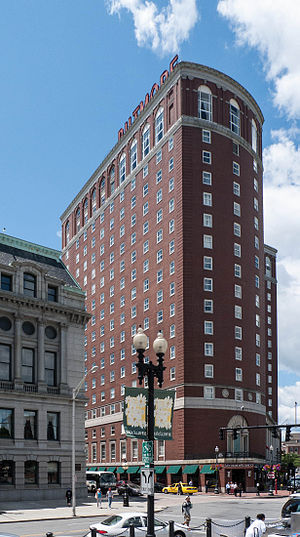 Providence Biltmore - Image: Providence Biltmore Hotel corner view 2011