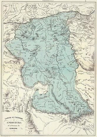 Guayana Province - Image: Provincia de Guayana Cantón Angostura