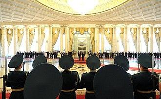 Ak Orda Presidential Palace - Image: Putin in Kazakhstan 2015 01