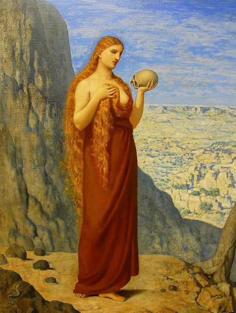 File:Puvis de Chavannes-Mary Magdalene in the Desert,1869 ...
