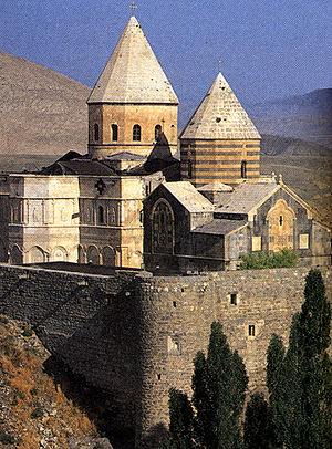 Christianity in Iran - Qara Kelissa, West Azarbaijan. Believed by some to have been first built in 66 AD by Saint Jude. Local Armenians believe that he and Simon were both buried here. In 1329, the church was reconstructed after an earthquake destroyed the structure in 1319.