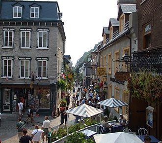 Vieux-Québec–Cap-Blanc–colline Parlementaire - Rue du Petit-Champlain near Place Royale.