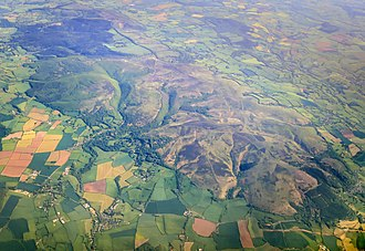 Quantock Hills - Aerial view of the Quantock Hills
