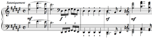 """Grande sonate 'Les quatre âges' - 30 ans, also known as """"Quasi-Faust"""", the second movement, begins with a fanfare to be played """"satanically."""""""