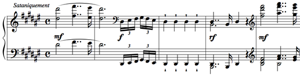 "Opening of the second movement (""Quasi-Faust"") of the Sonate Op. 33, marked ""Sataniquement"" (satanically) Quasi-Faust - Alkan.png"