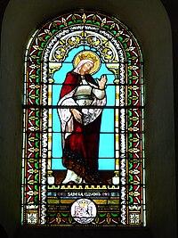 Quinsac (Dordogne) église vitrail (1).JPG