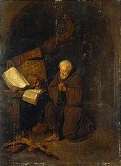 Hermit Before a Crucifix
