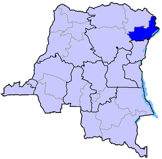 2000s in the Democratic Republic of the Congo - Ituri (highlighted) is just north of Nord-Kivu