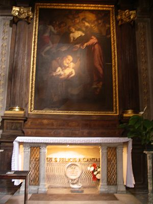 English: Tomb of Saint Felix of Cantalice, in ...