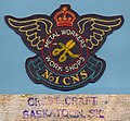 RCAF WWII No1 CNS Metal Workers Work Shops jacket patch by Crest Craft, circa 1943.jpg