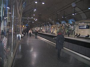 RER B - Luxembourg on the RER B.