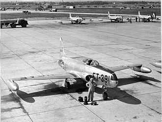 Neubiberg Air Base - RF-80 of the 160th Tactical Reconnaissance Squadron