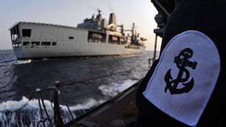 Leading seaman - The badge of a Royal Navy leading seaman
