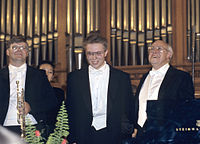 RIAN archive 424945 Pianist Ignat Solzhenitsyn and conductor and cellist Mstislav Rostropovich.jpg