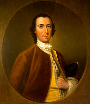 William Wanton - Official portrait in the Rhode Island State House