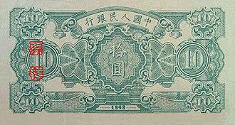 First series of the renminbi - Image: RMB1 10 1B