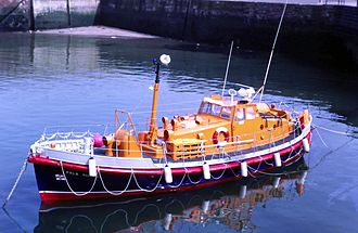 Lifeboat (rescue) - RNLI lifeboat, Dunbar harbour
