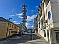 "Radio tower (""Telebygget"") in Borggata 10, Leirvik town, Stord Island, Norway 2018-03-13 b.jpg"